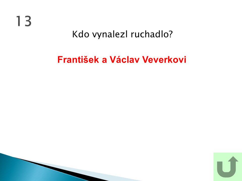 Kdo vynalezl ruchadlo? 13 František a Václav Veverkovi