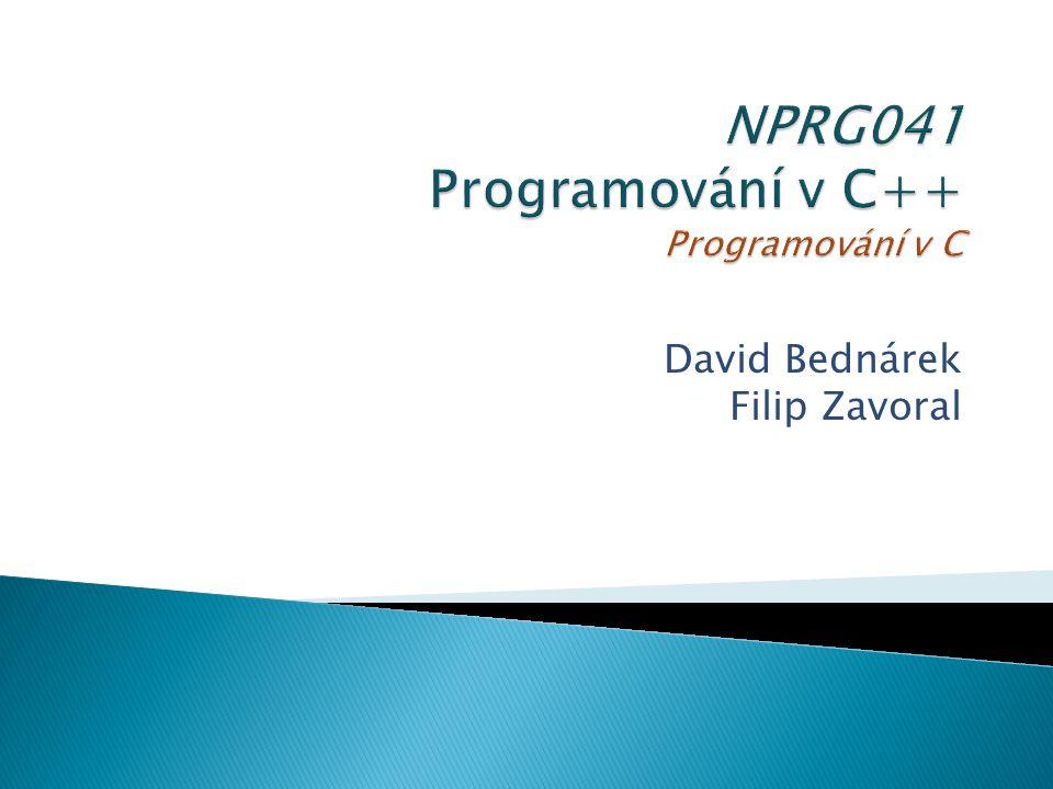 David Bednárek Filip Zavoral