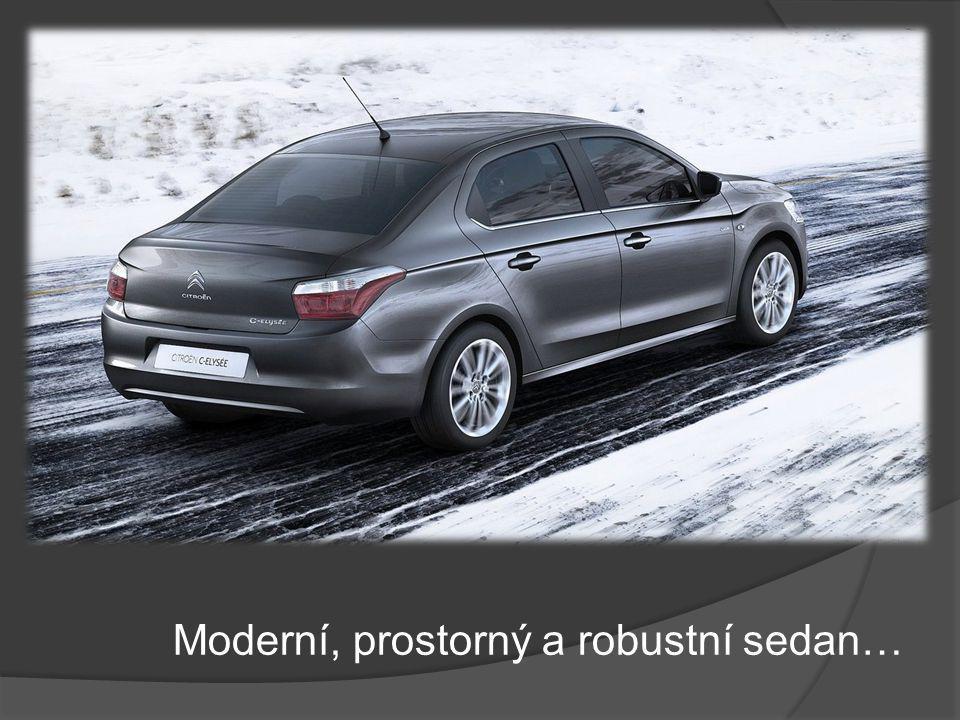 Moderní, prostorný a robustní sedan…
