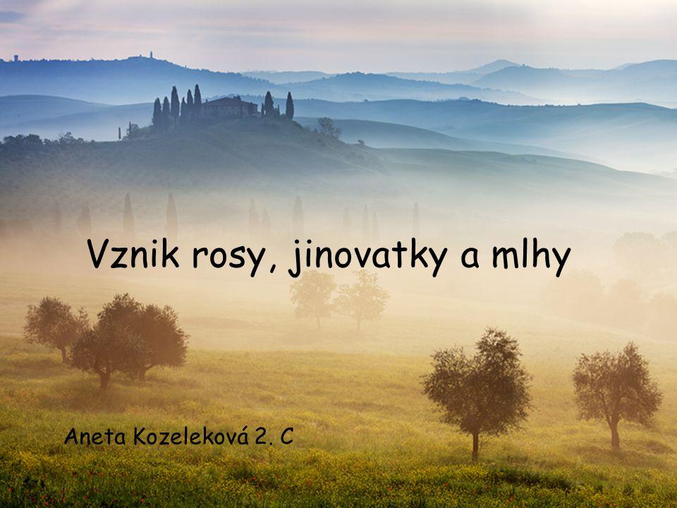 Vznik rosy, jinovatky a mlhy Aneta Kozeleková 2. C