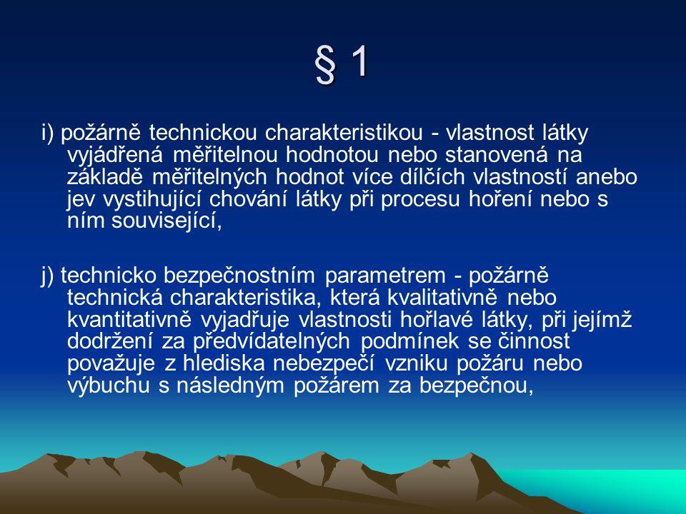 § 2 e) zařízení pro zásobování požární vodou (např.