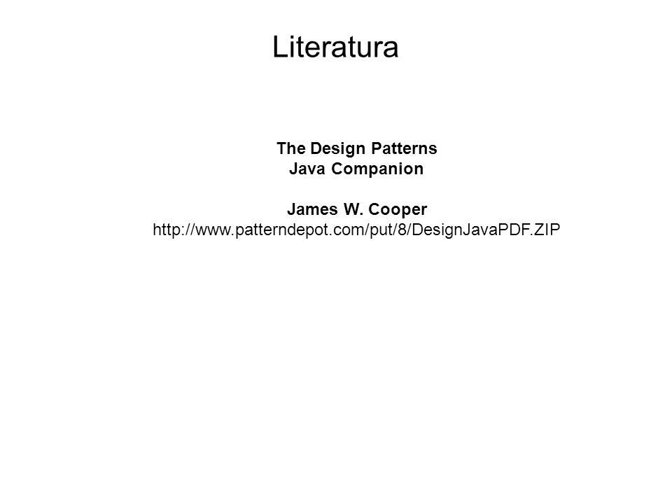 The Design Patterns Java Companion James W. Cooper http://www.patterndepot.com/put/8/DesignJavaPDF.ZIP