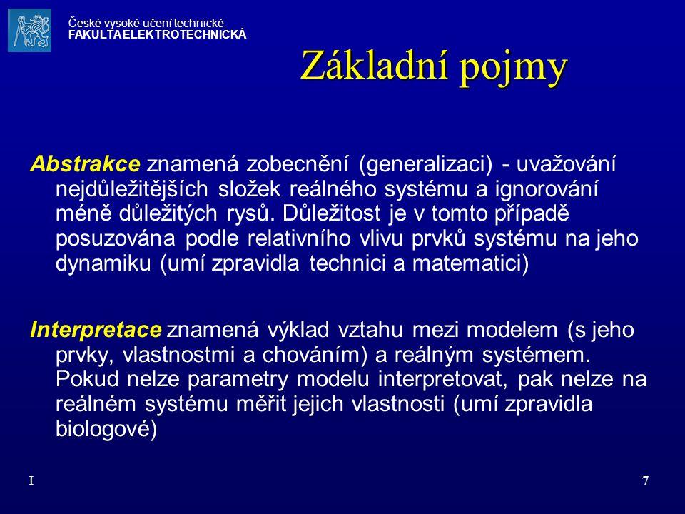 I28 Základní atributy systému Stabilita - schopnost systému udržovat si při změně vstupů a stavů svých prvků nezměněnou vnější formu (chování) i navzdory procesům probíhajícím uvnitř systému.