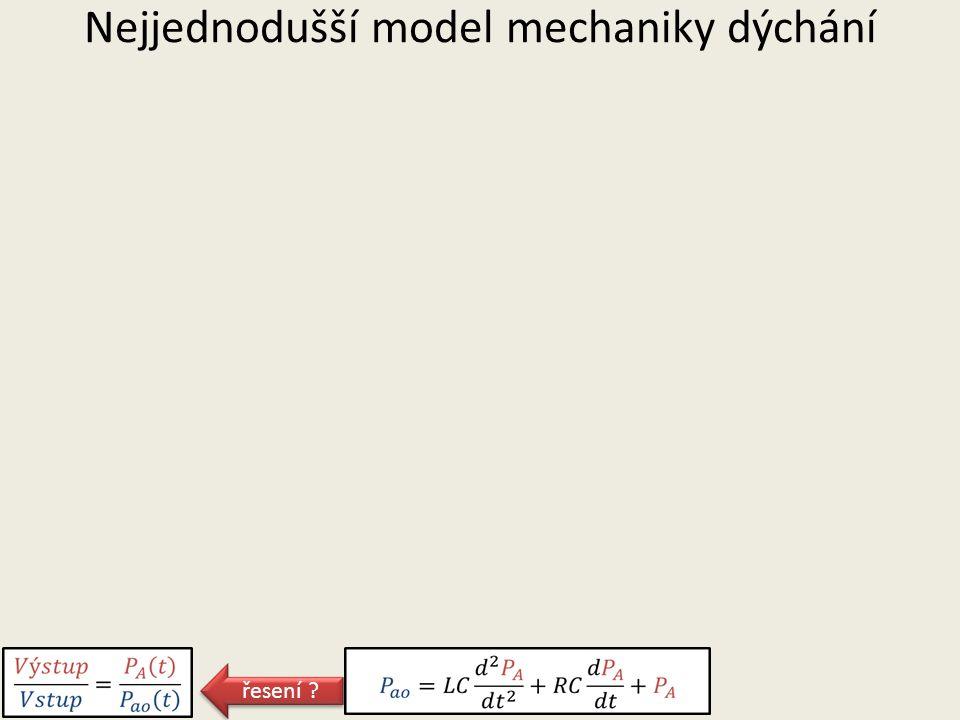 Nejjednodušší model mechaniky dýchání řesení