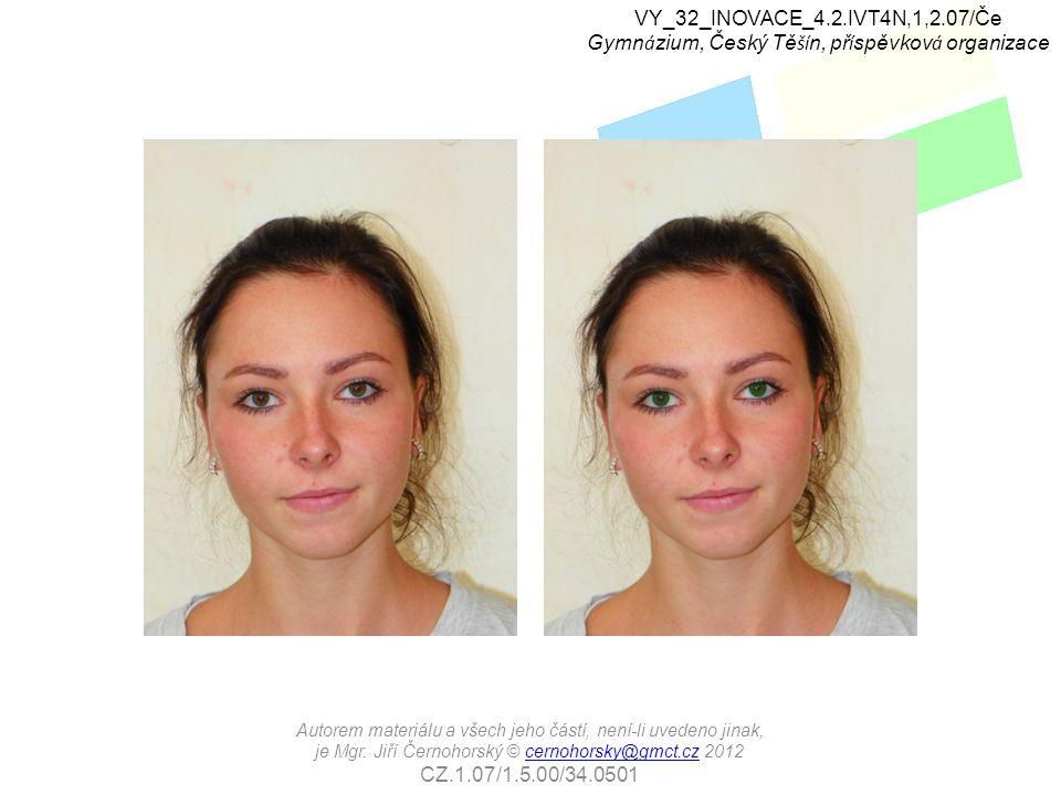 Cvičení: Upravte barvu rtů zdrojové fotografie tak, jako by modelka použila výraznou rťenku.