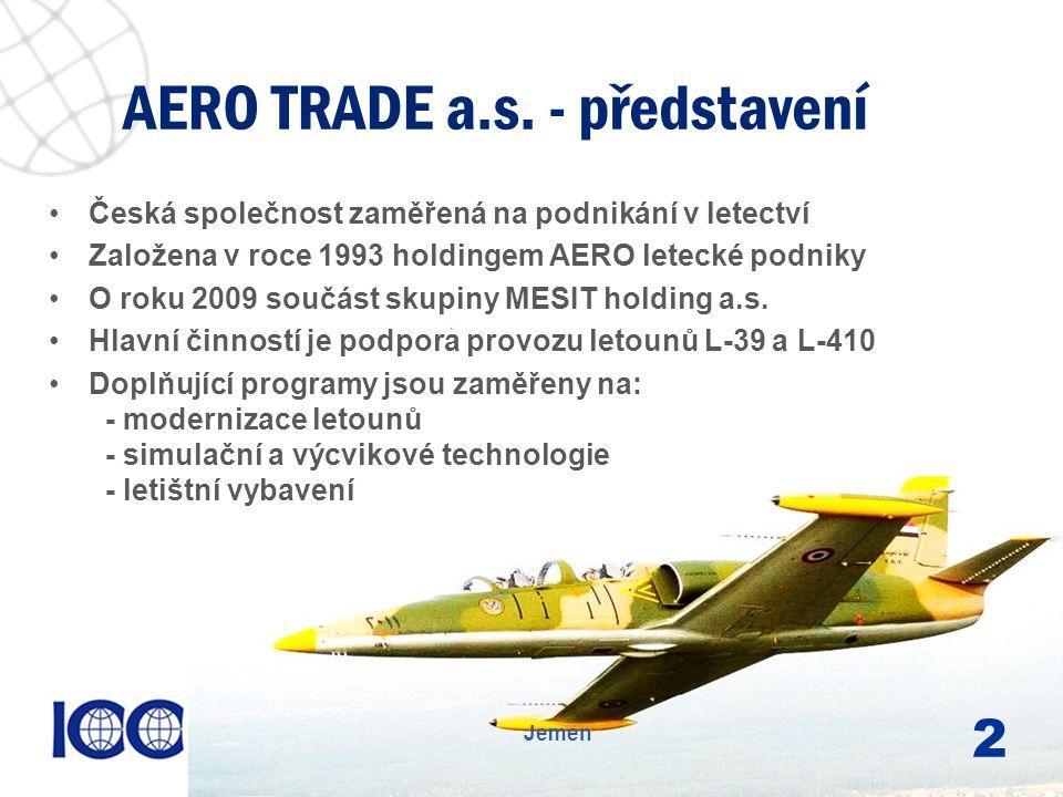 www.icc-cr.cz Česká společnost zaměřená na podnikání v letectví Založena v roce 1993 holdingem AERO letecké podniky O roku 2009 součást skupiny MESIT holding a.s.