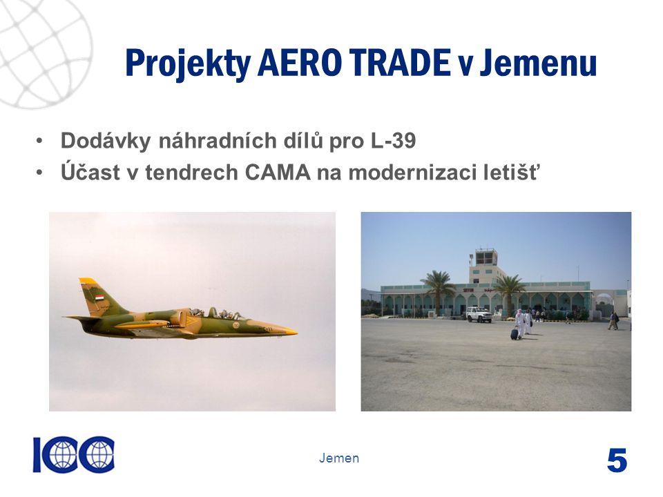 www.icc-cr.cz Dodávky náhradních dílů pro L-39 Účast v tendrech CAMA na modernizaci letišť Projekty AERO TRADE v Jemenu Jemen 5