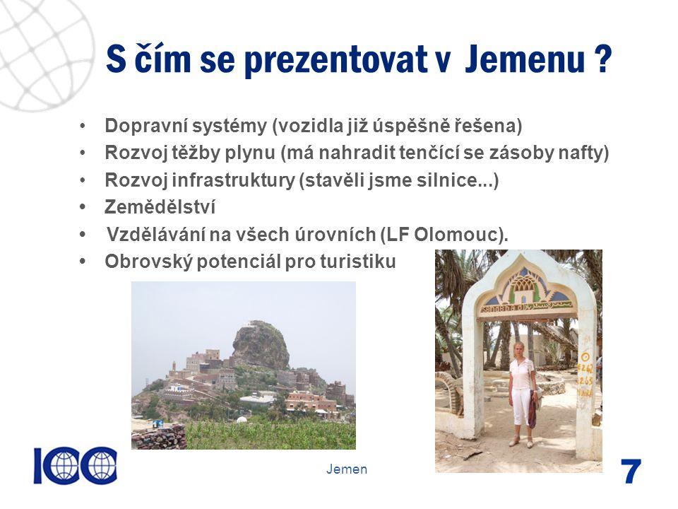 www.icc-cr.cz Dopravní systémy (vozidla již úspěšně řešena) Rozvoj těžby plynu (má nahradit tenčící se zásoby nafty) Rozvoj infrastruktury (stavěli jsme silnice...) Zemědělství.....) Vzdělávání na všech úrovních (LF Olomouc).