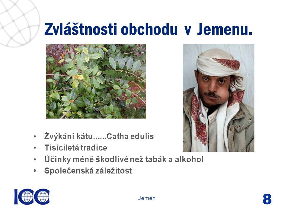 www.icc-cr.cz Žvýkání kátu......Catha edulis Tisíciletá tradice Účinky méně škodlivé než tabák a alkohol Společenská záležitost Zvláštnosti obchodu v Jemenu.
