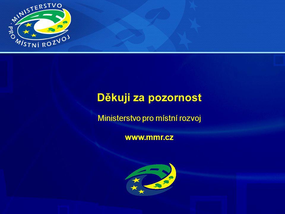 Děkuji za pozornost Ministerstvo pro místní rozvoj www.mmr.cz