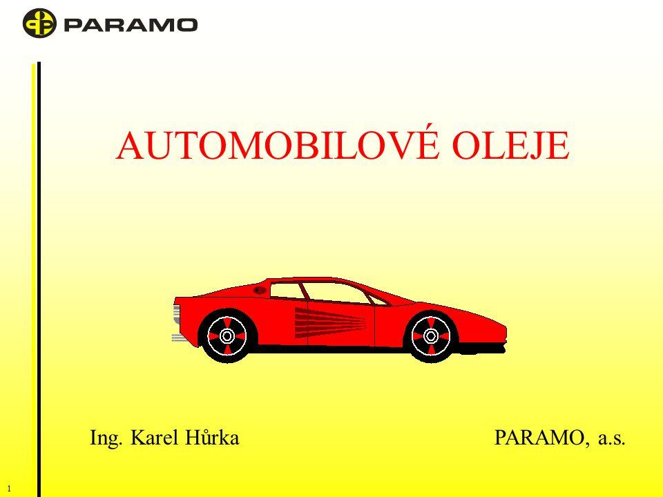 1 AUTOMOBILOVÉ OLEJE Ing. Karel Hůrka PARAMO, a.s.