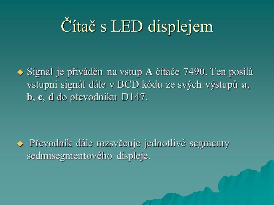 Čítač s LED displejem  Zařízení není nutné nijak nastavovat a pracuje na první zapojení.