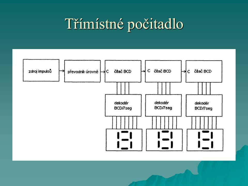 """TTL, TTL-LS, TTL-ALS, CMOS-HCT CMOSCMOS-HC Napájecí napětí 4,8V-5,2V3V-18V3V-8V Logická úroveň """"0 Vstupní0V-0,8V0-20% napájecího napětí Logická úroveň """"0 Výstupní0V-0,4V Logická úroveň """"1 Vstupní2V-napájecí napětí80-100% napájecího napětí Logická úroveň """"1 Výstupní2,4V-napájecí napětí Napájecí napětí a logické úrovně jednotlivých technologií"""