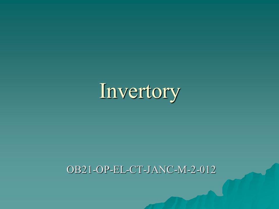 Invertory OB21-OP-EL-CT-JANC-M-2-012