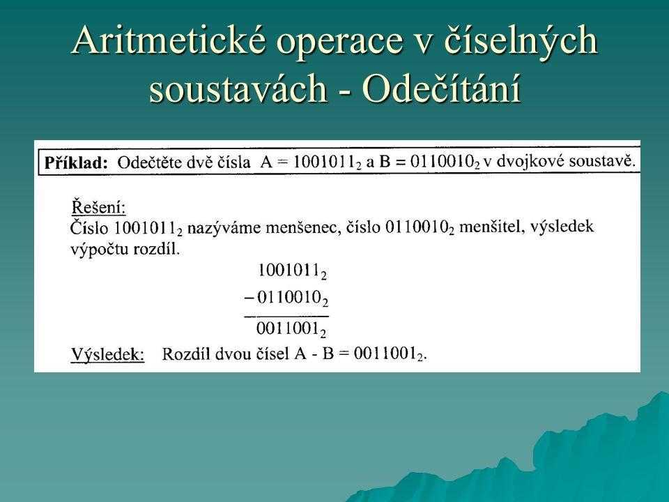 Aritmetické operace v číselných soustavách - Odečítání