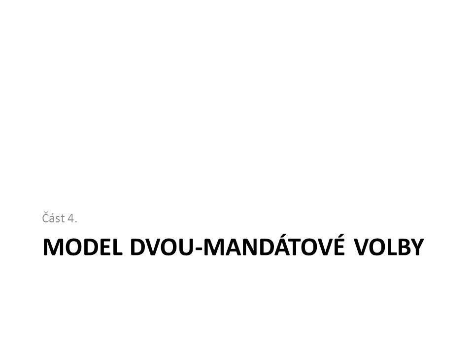 MODEL DVOU-MANDÁTOVÉ VOLBY Část 4.