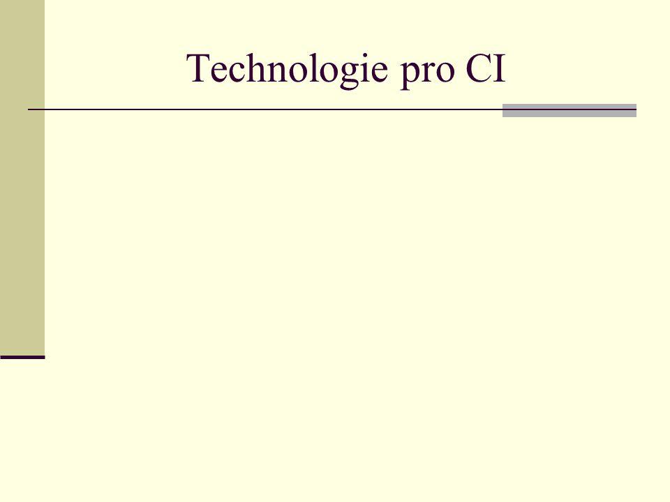 Od technologií pro CI vyžadujeme především funkce vyhledávání v rozsáhlých databázích na základě libovolných dotazů, propojování a porovnávání dat získaných z různých databází s cílem získání spolehlivých a aktuálních informací rozpoznávání vzorů, tj.