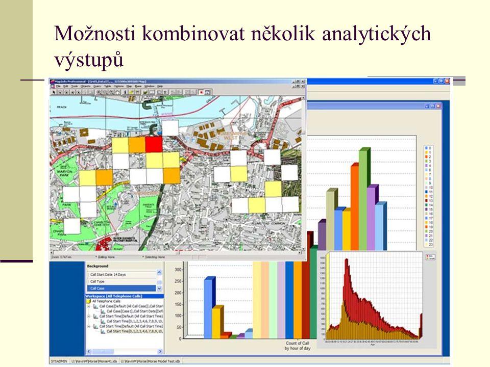 Možnosti kombinovat několik analytických výstupů