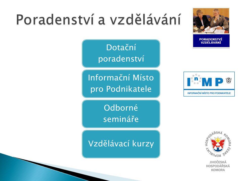Dotační poradenství Informační Místo pro Podnikatele Odborné semináře Vzdělávací kurzy