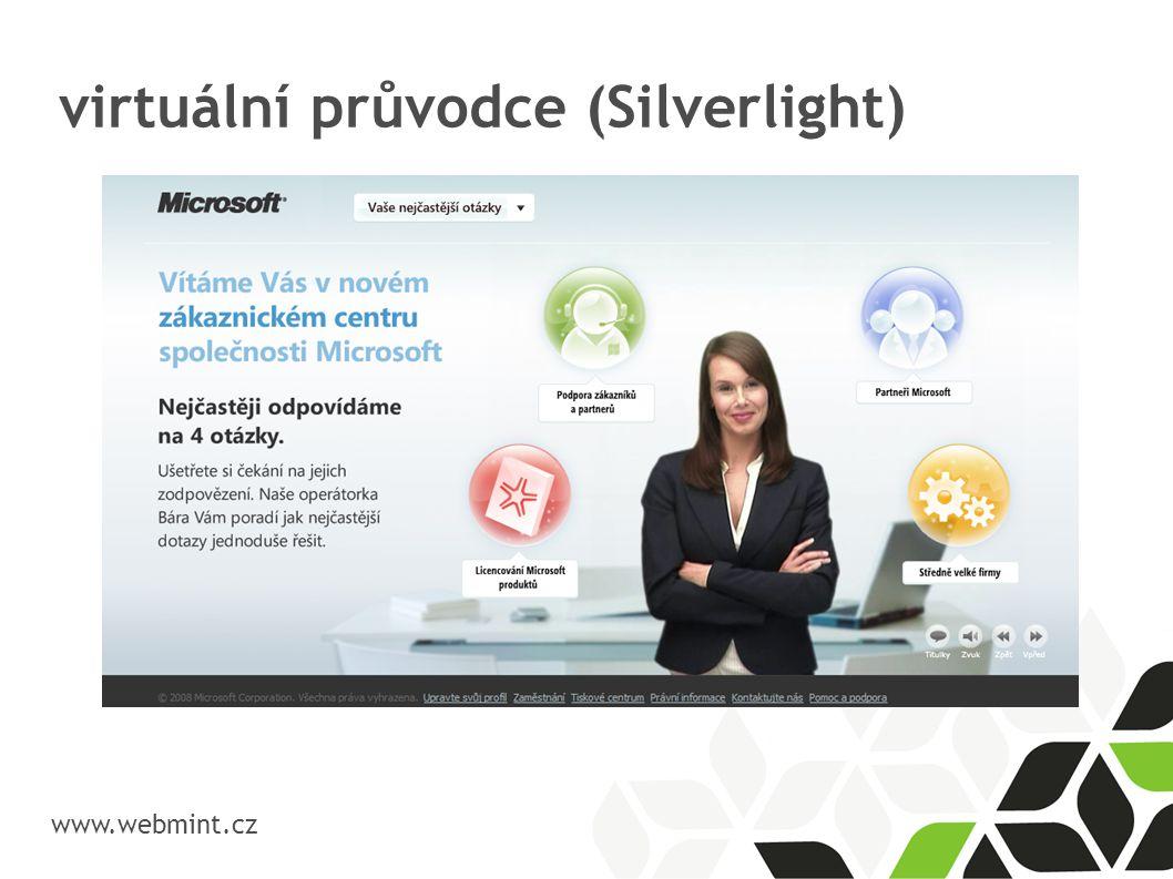 virtuální průvodce (Silverlight)  www.webmint.cz