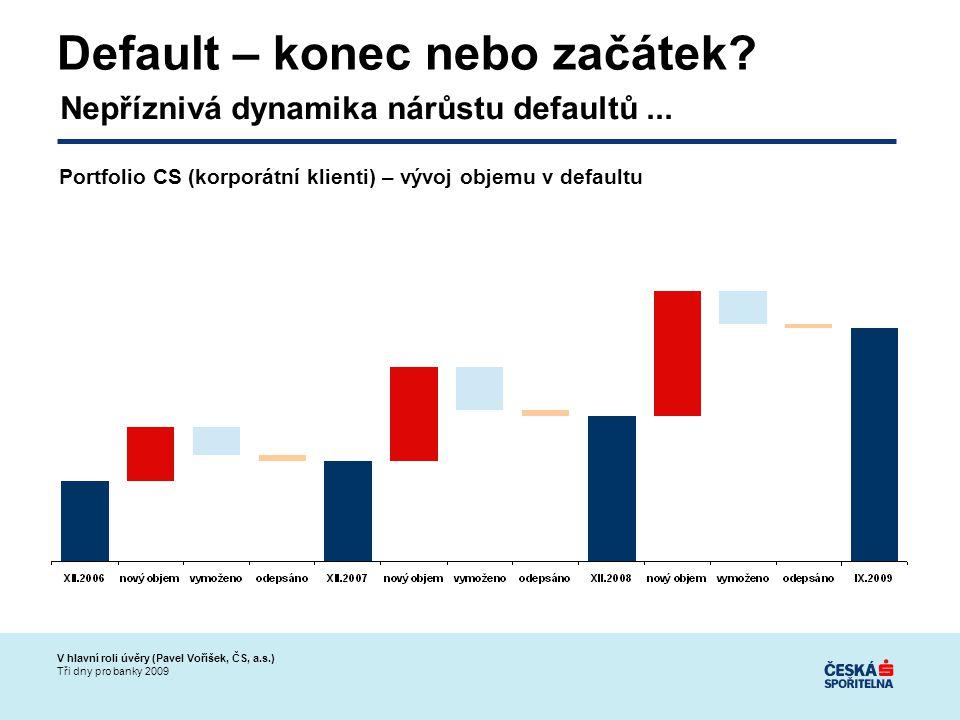 V hlavní roli úvěry (Pavel Voříšek, ČS, a.s.) Tři dny pro banky 2009 Default – konec nebo začátek.