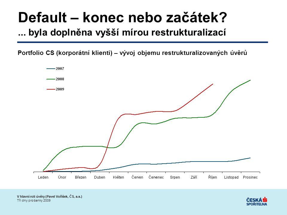 V hlavní roli úvěry (Pavel Voříšek, ČS, a.s.) Tři dny pro banky 2009 Default – konec nebo začátek ...