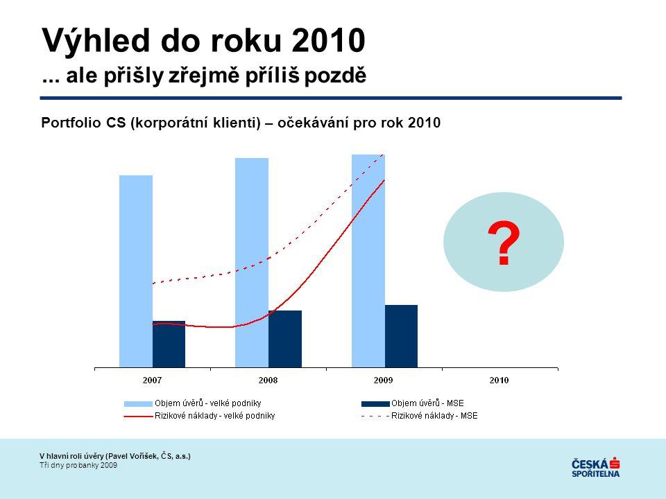 V hlavní roli úvěry (Pavel Voříšek, ČS, a.s.) Tři dny pro banky 2009 Výhled do roku 2010...