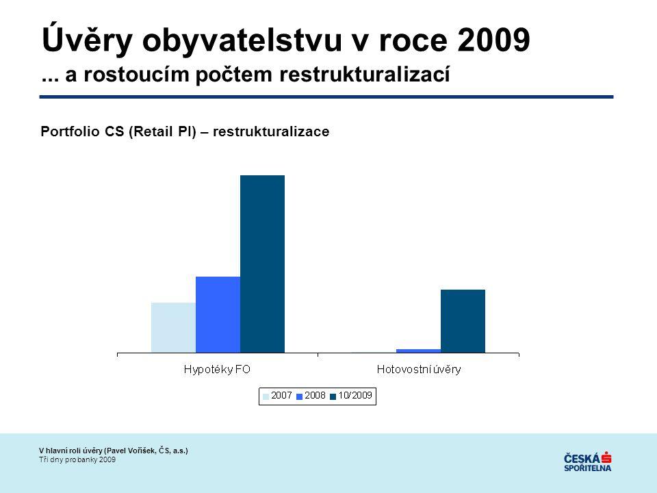 V hlavní roli úvěry (Pavel Voříšek, ČS, a.s.) Tři dny pro banky 2009 Úvěry obyvatelstvu v roce 2009...