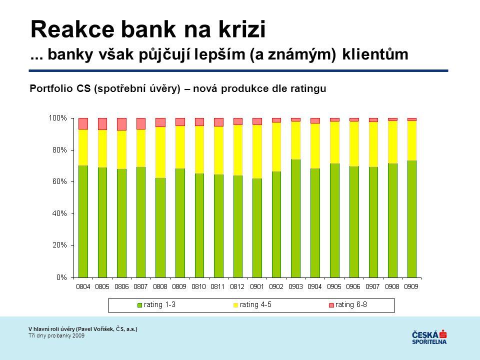 V hlavní roli úvěry (Pavel Voříšek, ČS, a.s.) Tři dny pro banky 2009 Reakce bank na krizi...