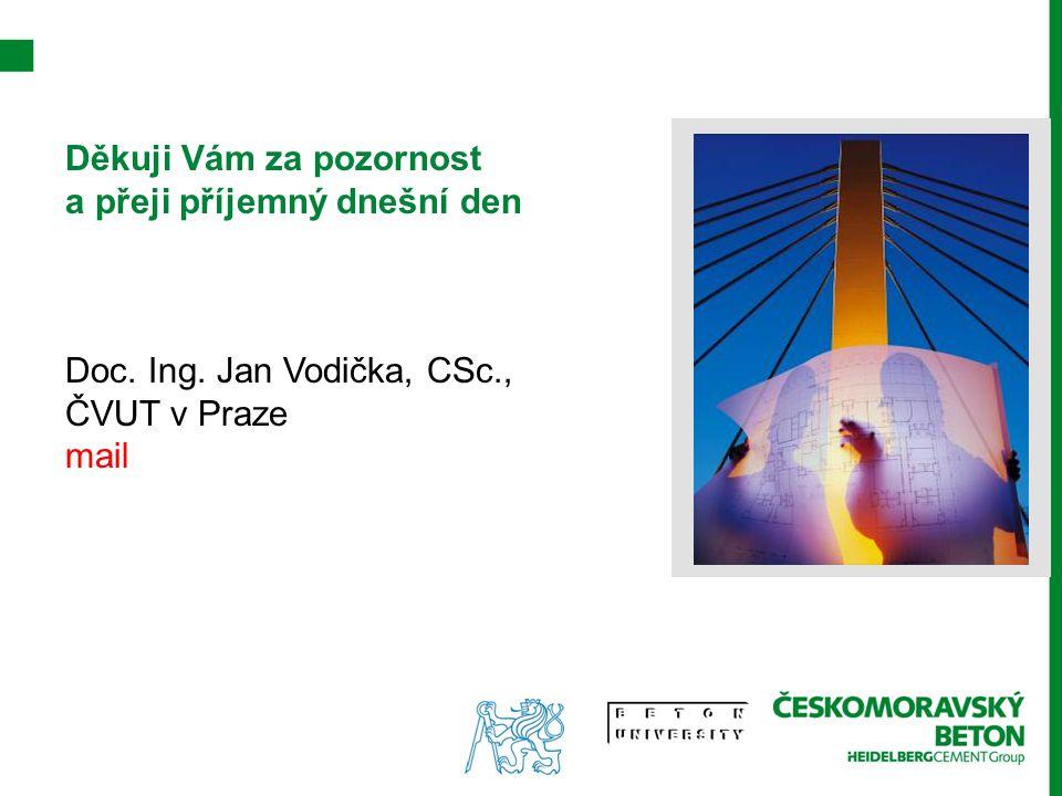 Děkuji Vám za pozornost a přeji příjemný dnešní den Doc. Ing. Jan Vodička, CSc., ČVUT v Praze mail
