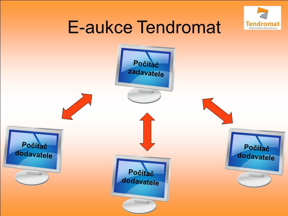 E-aukce Tendromat Počítač dodavatele Počítač dodavatele Počítač dodavatele Počítač zadavatele