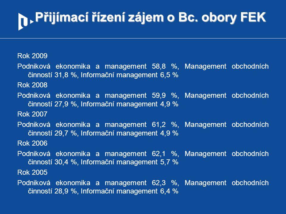 Přijímací řízení zájem o Bc.