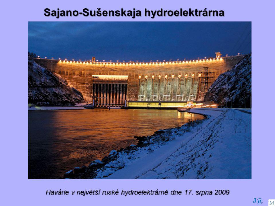 Havárie v největší ruské hydroelektrárně dne 17. srpna 2009 Sajano-Sušenskaja hydroelektrárna J@