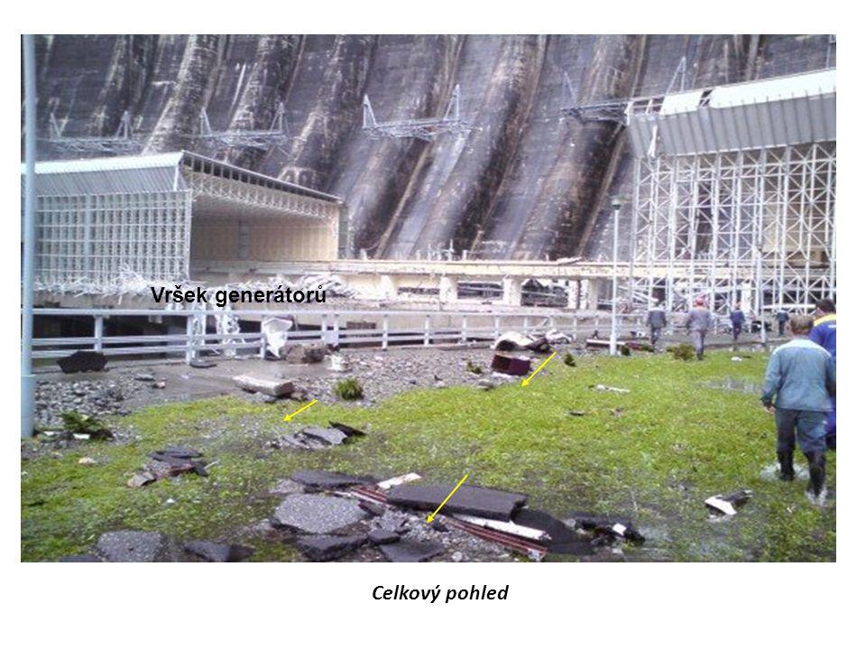 Celkový pohled Vršek generátorů