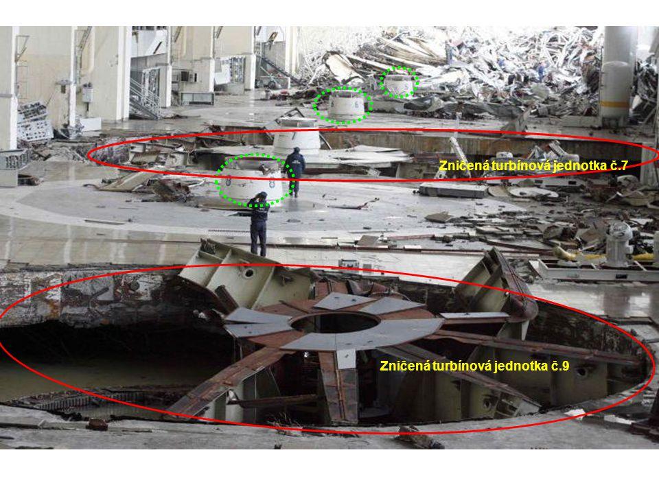 Zničená turbínová jednotka č.9 Zničená turbínová jednotka č.7