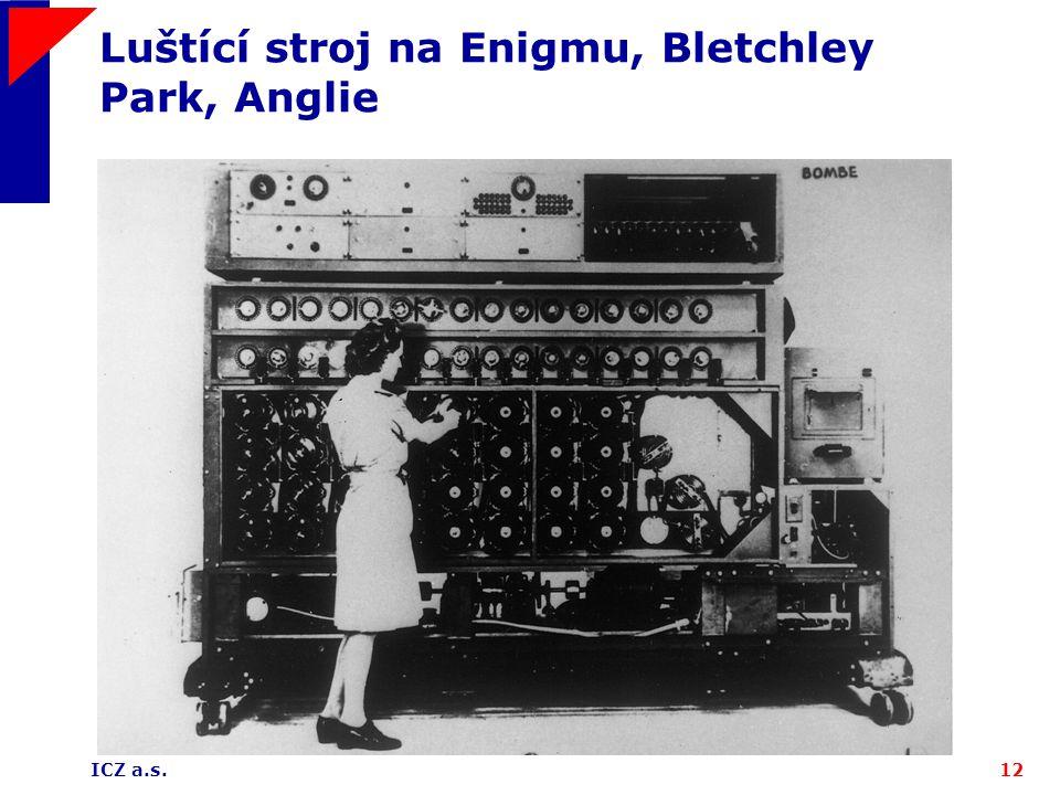 ICZ a.s.12 Luštící stroj na Enigmu, Bletchley Park, Anglie