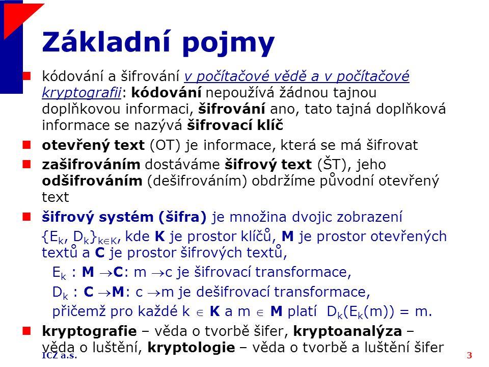 ICZ a.s.44 Proudové šifry: Vernamova šifra vs.