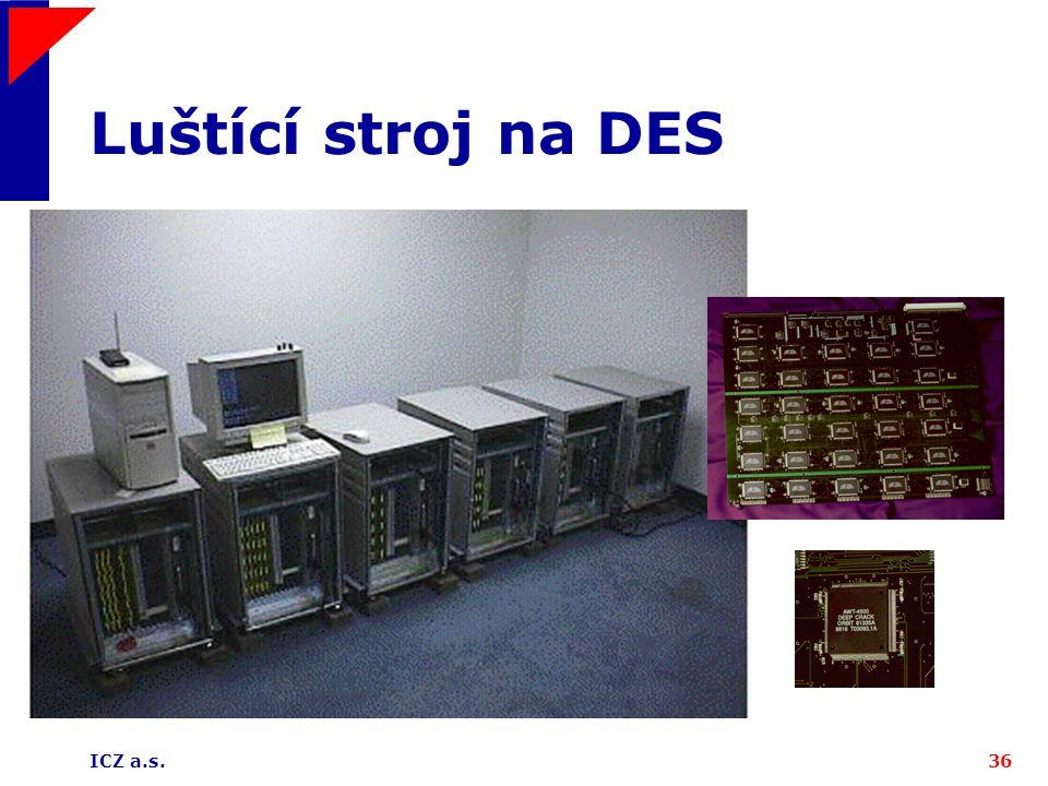 ICZ a.s.36 Luštící stroj na DES