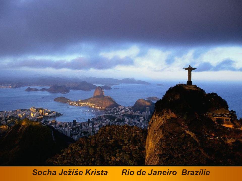 Socha Ježíše Krista Rio de Janeiro Brazílie
