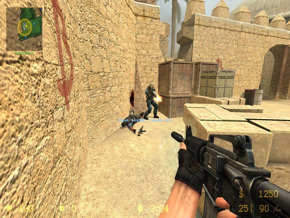 Counter-Strike je multiplayerová počítačová hra z pohledu první osoby (FPS) (a nejhranější online současnosti).