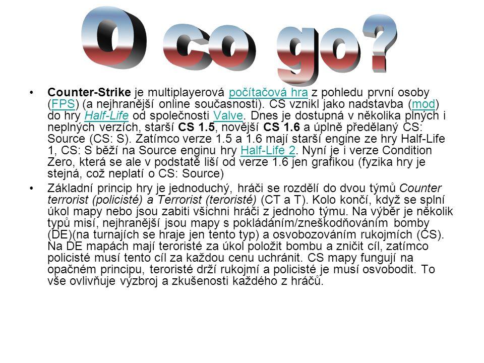 Counter-Strike je multiplayerová počítačová hra z pohledu první osoby (FPS) (a nejhranější online současnosti). CS vznikl jako nadstavba (mod) do hry