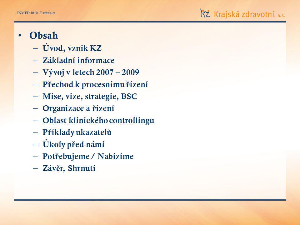 INMED 2010 - Pardubice Mise (poslání) – Zajiš ť ovat komplexní, kvalitní a dostupnou zdravotní pé č i primárn ě obyvatel ů m Ústeckého kraje.