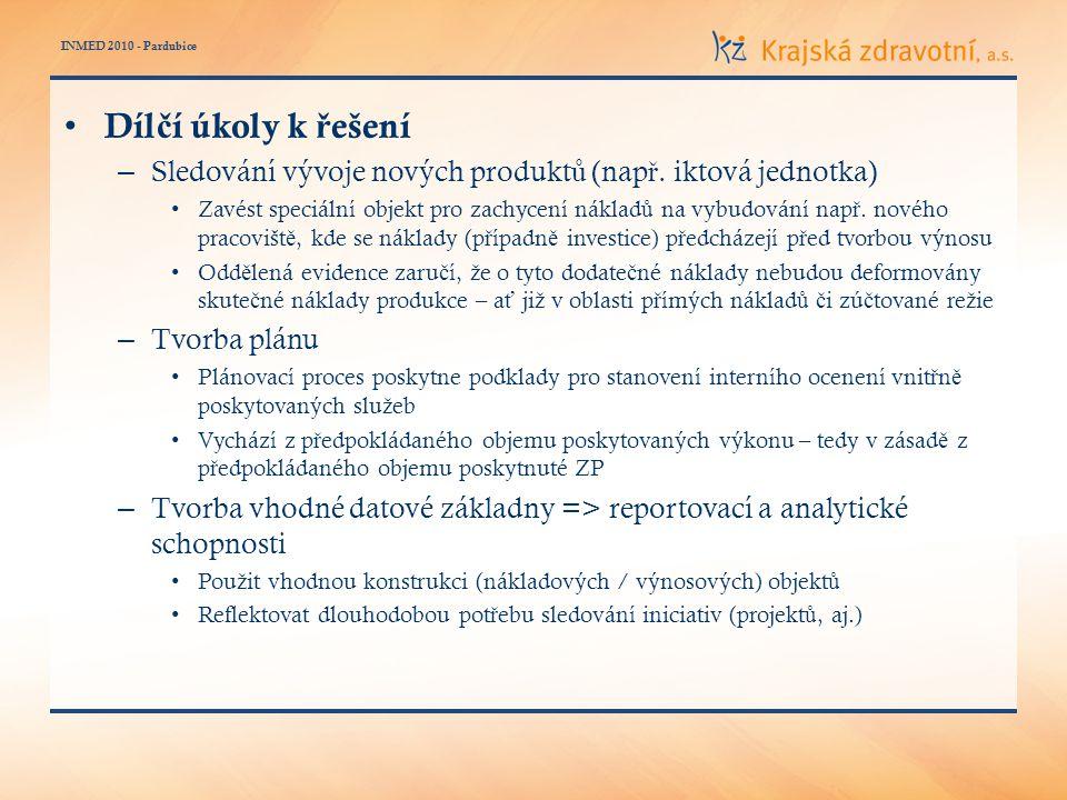 INMED 2010 - Pardubice Díl č í úkoly k ř ešení – Sledování vývoje nových produkt ů (nap ř.