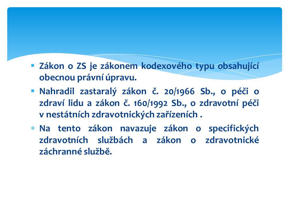 § 93 odst.3 zákona č. 372/2011 Sb.