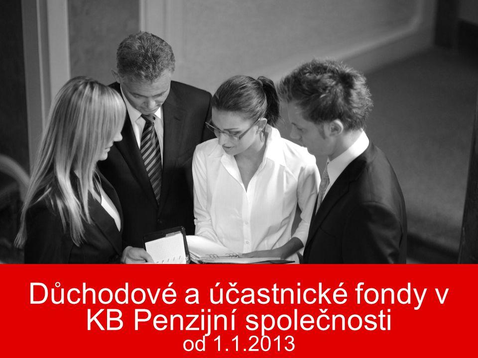 Důchodové a účastnické fondy v KB Penzijní společnosti od 1.1.2013