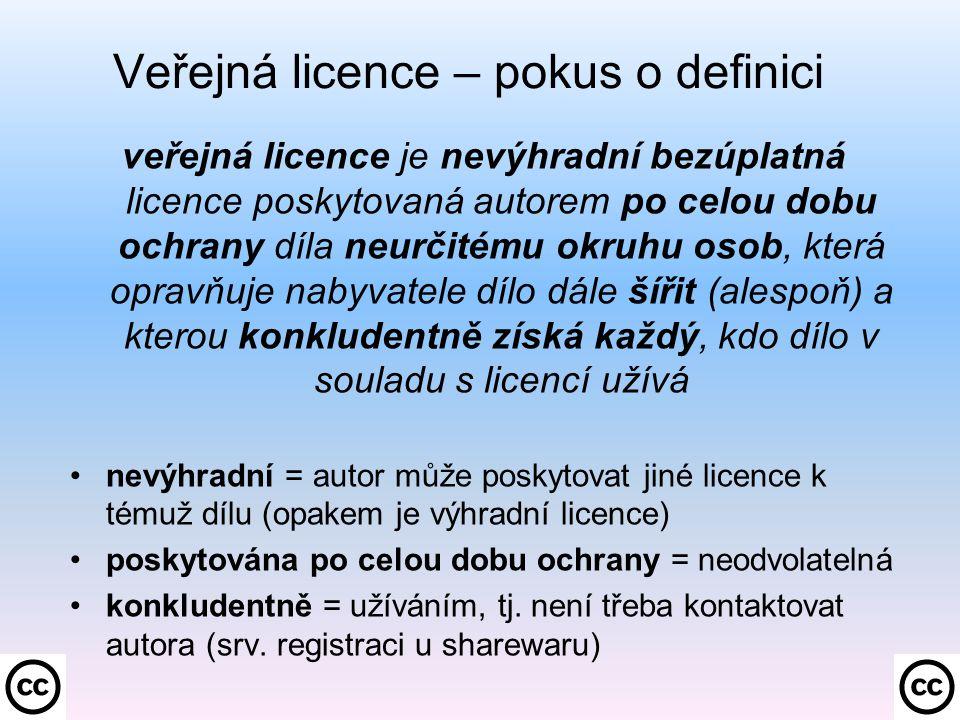 Druhá volba: NC – Neužívejte komerčně –.Oprávnění poskytnutá nabyvateli podle ustanovení čl.