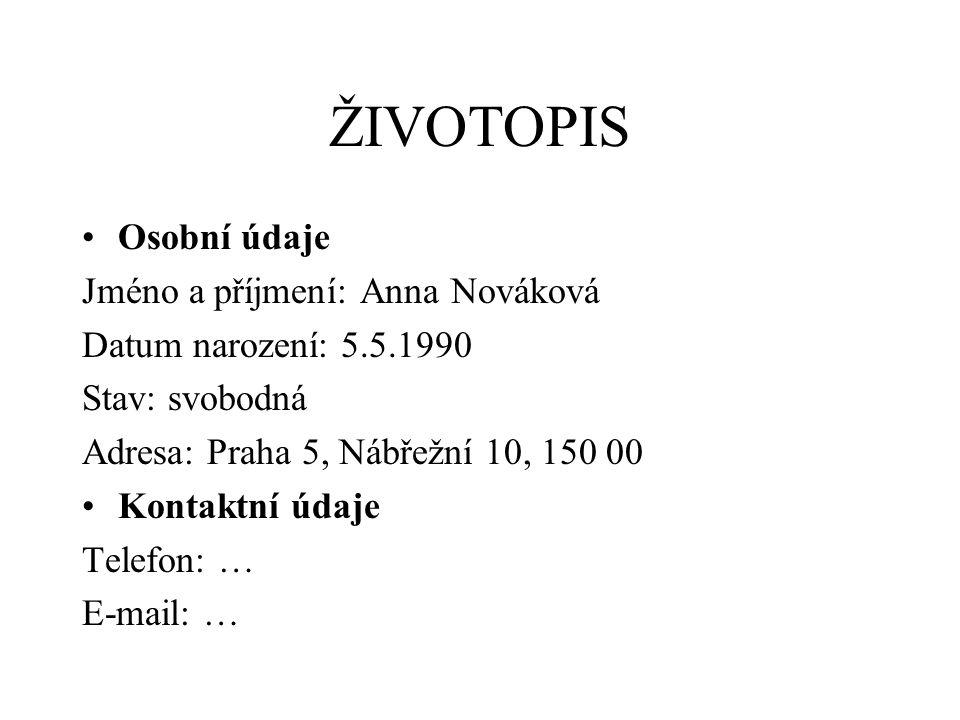 Dosažené vzdělání 2009 – dosud Vysoká škola finanční a správní, Praha 10 2.
