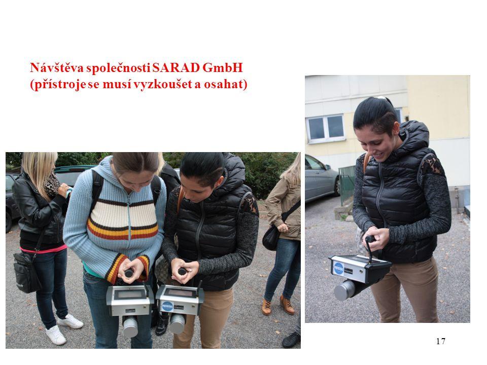 17 Návštěva společnosti SARAD GmbH (přístroje se musí vyzkoušet a osahat)