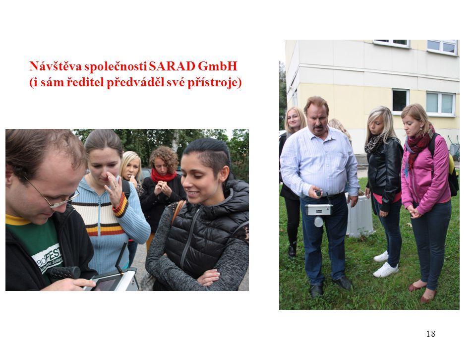 18 Návštěva společnosti SARAD GmbH (i sám ředitel předváděl své přístroje)