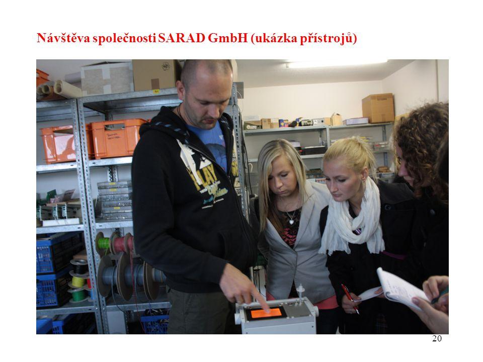 20 Návštěva společnosti SARAD GmbH (ukázka přístrojů)